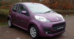 PEUGEOT 107 1.0 ACTIVE 68 BHP 5 DOOR PURPLE MANUAL