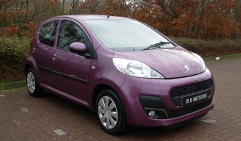 PEUGEOT 107 1.0 ACTIVE 68 BHP 5 DOOR PURPLE MANUAL full